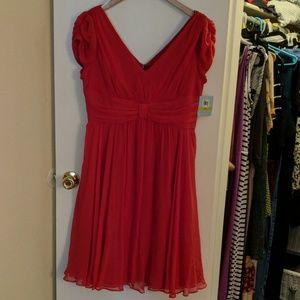 Formal red silk dress